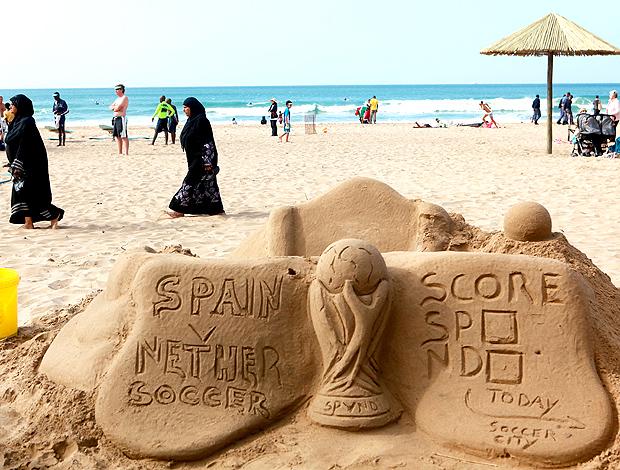 escultura praia durban placar final da copa do mundo