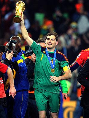 Ilker Casillas comemoração Espanha Copa do Mundo