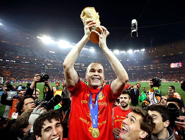 Iniesta comemoração Espanha campeã