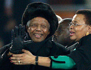 Nelson Mandela cerimônia de encerramento Copa do Mundo