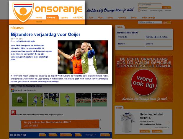 Federação holandesa dá parabéns para vovô do time