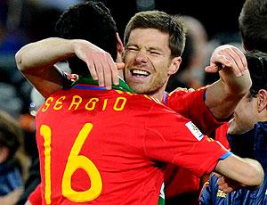 Xabi Alonso comemoração Espanha