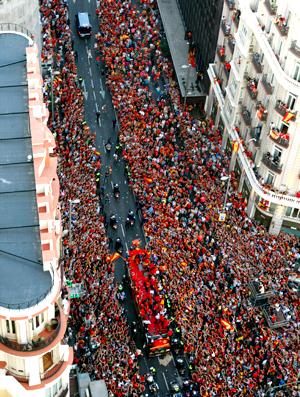 Festa Espanha Copa 2010