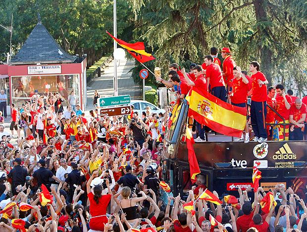 Espanha desfila em Madri