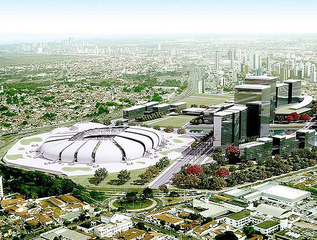 Projeto Estádio Arena das Dunas Natal copa 2014 (Foto: Divulgação)