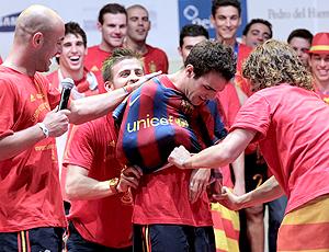 Festa Epanha Fabregas camisa Barcelona