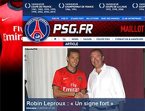 reprodução nene site oficial do PSG