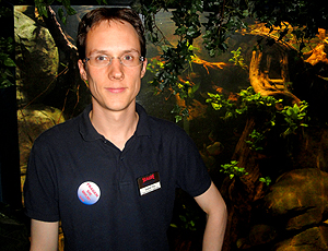Daniel Fey, supervisor Sea Life, casa polvo Paul Oberhausen