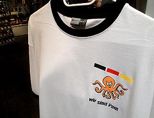 Camisas do polvo Paul que não estão à venda