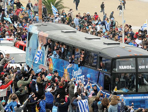 Uruguai comemoração torcida carreata