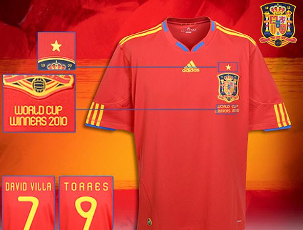 Camisa Espanha com estrela campeão