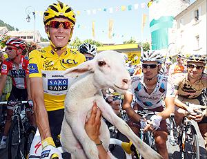 cliclista Andy Schleck cabra bicicleta Tour da França
