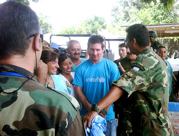 Messi visita Haiti