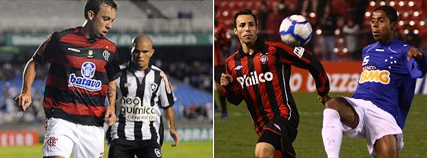 Montagem: Flamengo e Cruzeiro