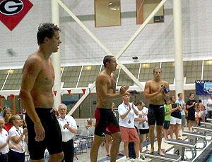 Cesar Cielo natação Athens pódio