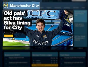 Silva apresentado no Manchester City