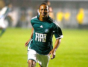 Tinga comemoração Palmeiras contra Santos