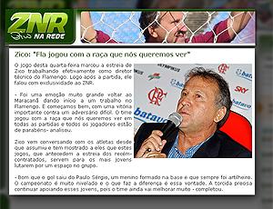 Reprodução do site Zico na Rede vitória Botafogo