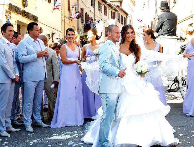 Casamento Sneijder e  padrinhos - Siena