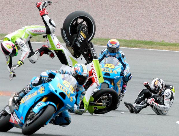 Randy de Puniet, acidente Moto Gp Alemanha