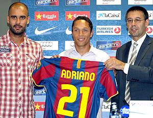Adriano apresentação Barcelona