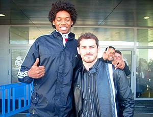 Lucas Bebê e Casillas