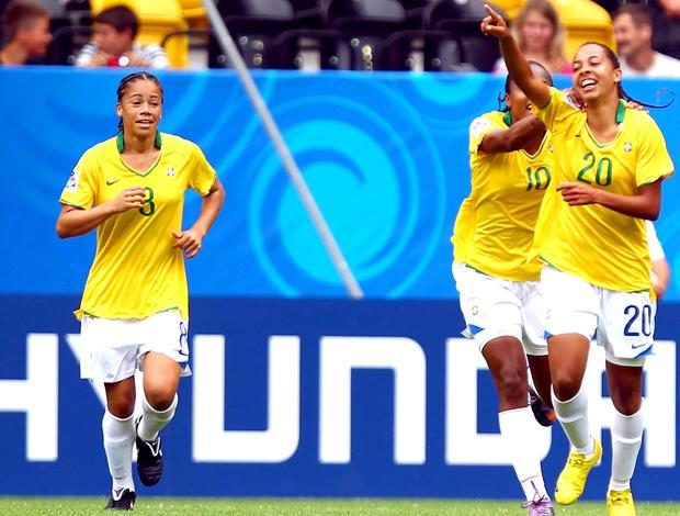 Comemoração Ludmila Brasil jogo Nova Zelândia Fifa Sub 20