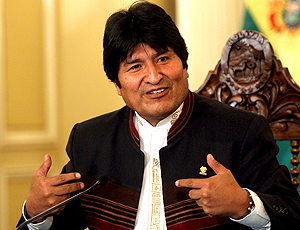 Evo Morales, presidente da Bolívia (Foto: AP)