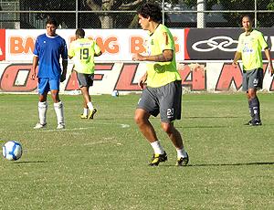 Fabrício e Jean no treino do Flamengo