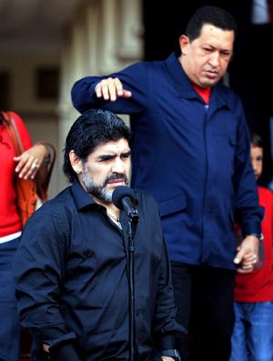 Maradona e Hugo Chávez