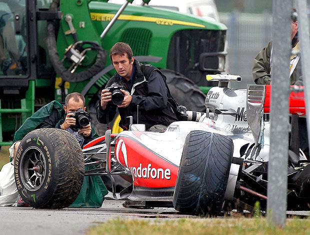 Hamilton acidente treino F1 Alemanha