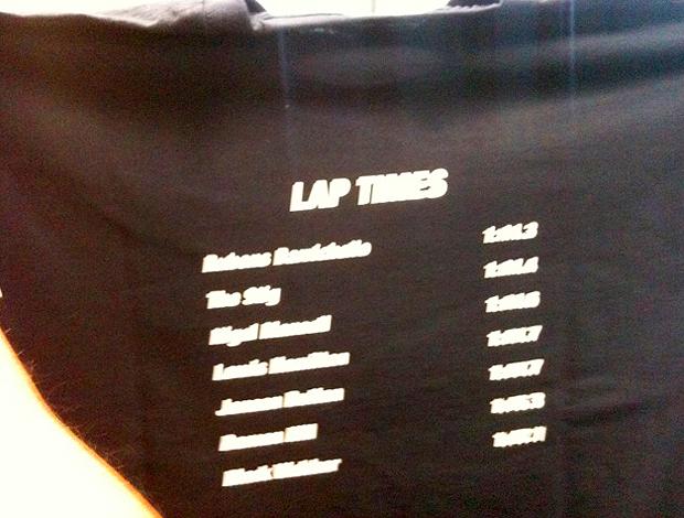 camisa barrichello recorde pista particular do programa top gear bbc