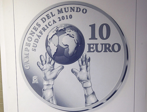 moeda Euro comemorativa Copa do Mundo