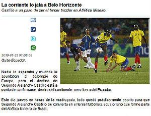 Castillo reprodução site negociação Atlético-MG
