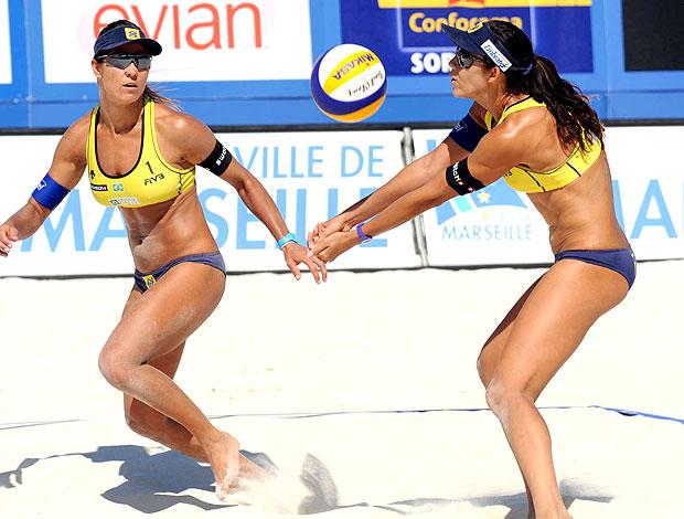 Talita e Maria Elisa vôlei de praia Marselha
