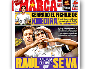 Reprodução capa Marca - Raúl deixa Real Madrid