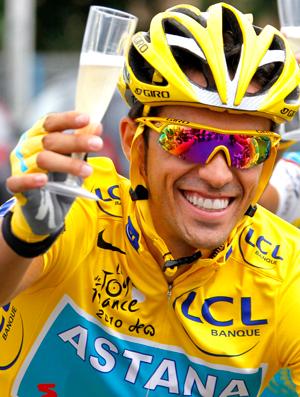 Alberto Contador, vencedor  Tour de France (Foto: EFE)