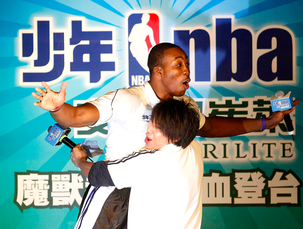 Dwight Howard, Orlando Magic encontro com fans em Taipei, Taiwan