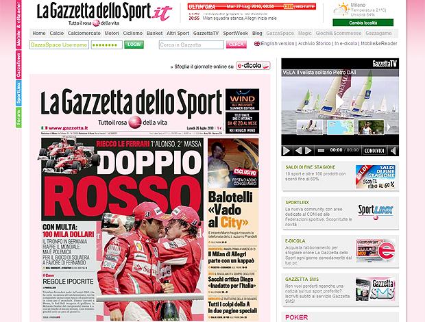 Capa Gazzetta Dello Sport Alonso