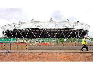 Estádio Olímpico de Londres - visão exterior