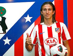 Filipe Luis apresentação no Atlético de Madrid