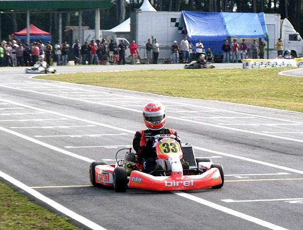 Nelsinho Piquet corrida de kart