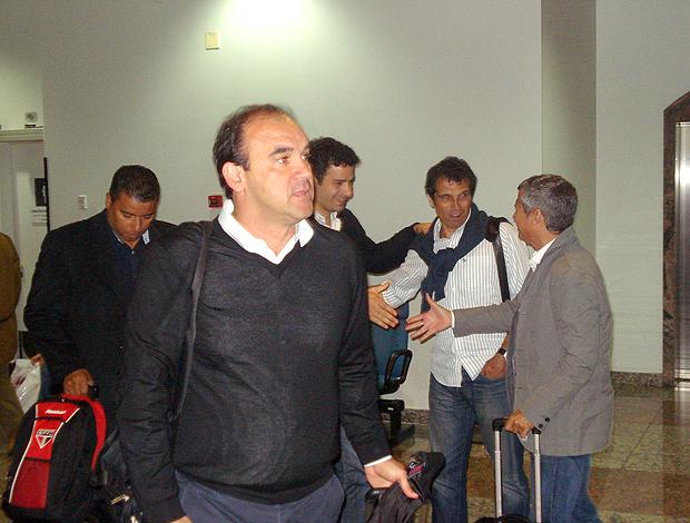 Ricardo Gomes no desembarque, São Paulo