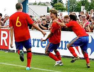 Sergio Canales, Espanha comemoração gol contra Inglaterra mundial sub 19