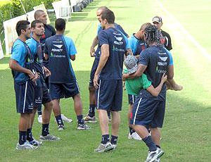 Carlos Alberto no treino do Vasco
