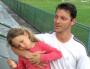 Leandro Amaral e a filha Valentina