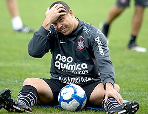 Ronaldo no treino do Corinthians