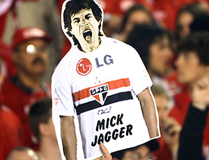 cartaz Mick Jagger torcida São Paulo