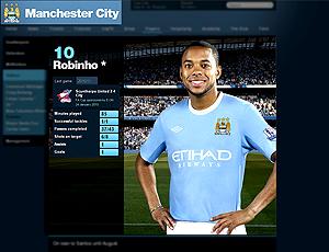 Robinho posa com camisa 10  Manchester City
