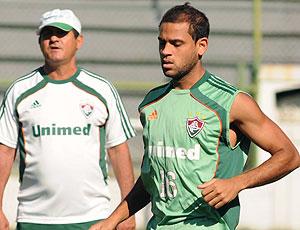 Carlinhos no treino do Fluminense